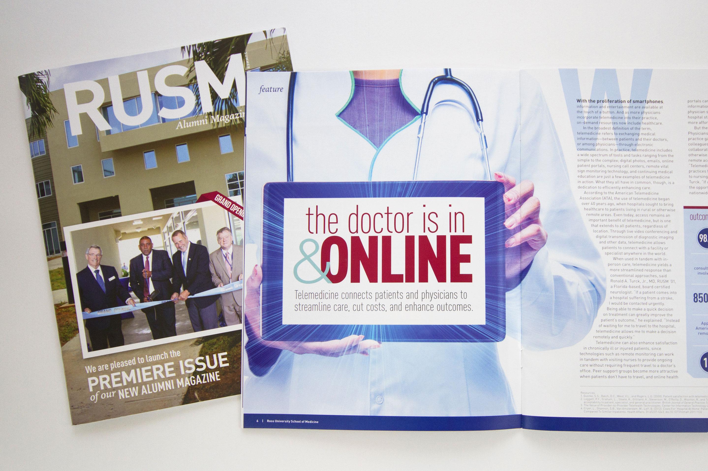 Ross University School of Medicine alumni magazine